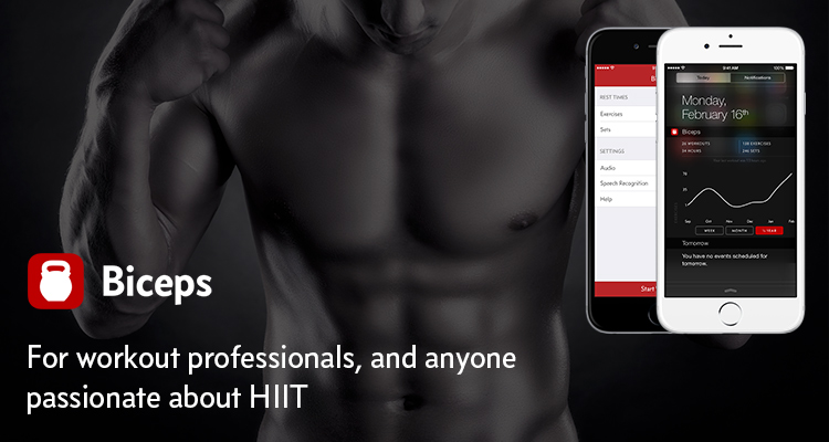 Biceps is a timer / stopwatch for workout professionals, and anyone passionate about HIIT.